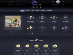 Tablet interface and SmartTV management automation system myHome